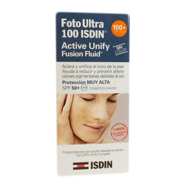 Foto Ultra 100 Isdin Active Unify Fusion Fluid S/Color 50ml